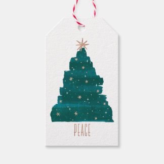 Painterly Tree Christmas Gift Tag