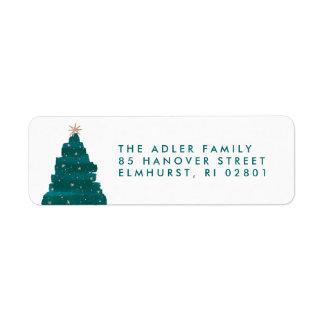 Painterly Tree Return Address Label