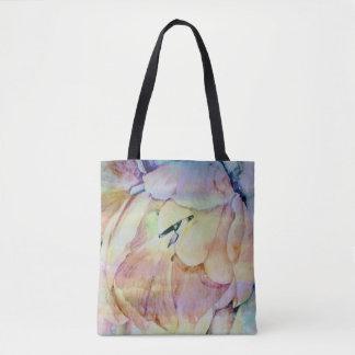 Painterly tulip tote bag