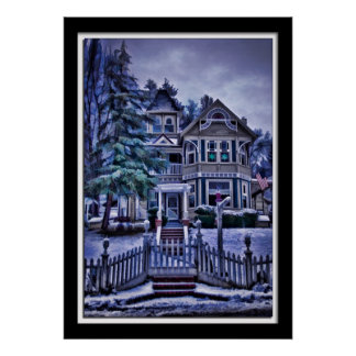 Painterly Victorian in Placerville California Poster