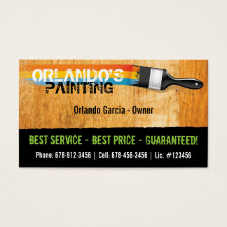 800+ Painter Business Cards and Painter Business Card Templates ...