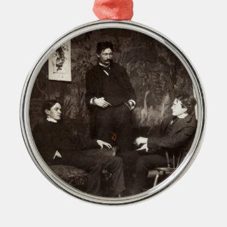 Painters Everett Shinn Robert Henri John Sloan Metal Ornament