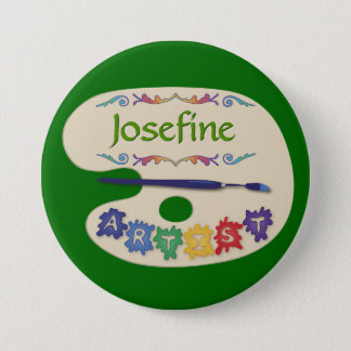 Painters Palette Artist Name 7.5 Cm Round Badge