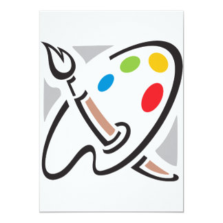 Painters Palette Invitations