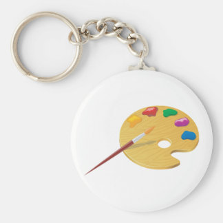 Painters Palette Keychain