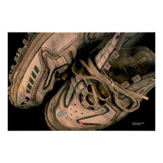 Painter's Tennis Shoes Poster