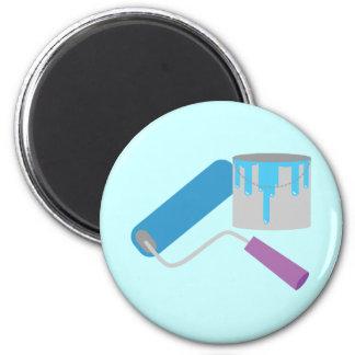 Painting 6 Cm Round Magnet
