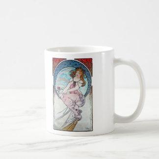 Painting, Alphonse Mucha Basic White Mug