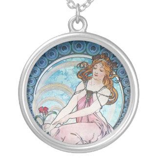 Painting Alphonse Mucha Custom Necklace