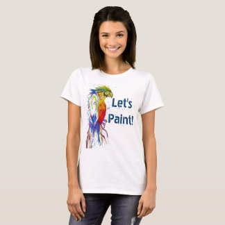 Painting and Art School Parrot Logo T-Shirt