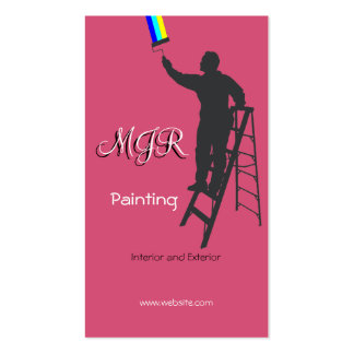 Painting and Decorating Pack Of Standard Business Cards