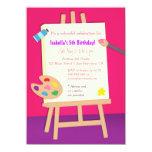 Painting Arts Kids Birthday Party 11 Cm X 16 Cm Invitation Card
