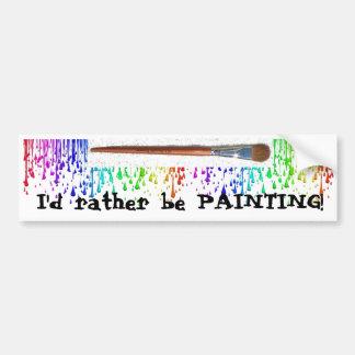 painting Bumper Sticker