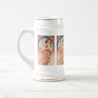 """Painting"" by Alphonse Mucha, 1898 Beer Steins"