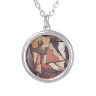 Painting by Amadeo de Souza-Cardoso Round Pendant Necklace