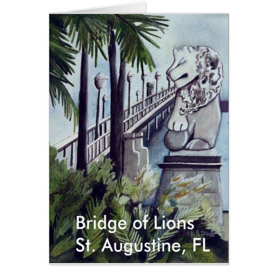 """Painting by Linda M. Brandt, """"Bridge of Lions"""" Card"""