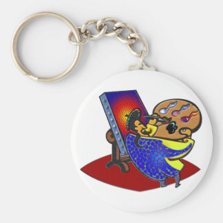 Painting by the notes basic round button key ring
