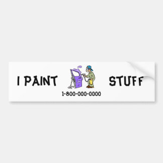 Painting Cars Bumper Sticker