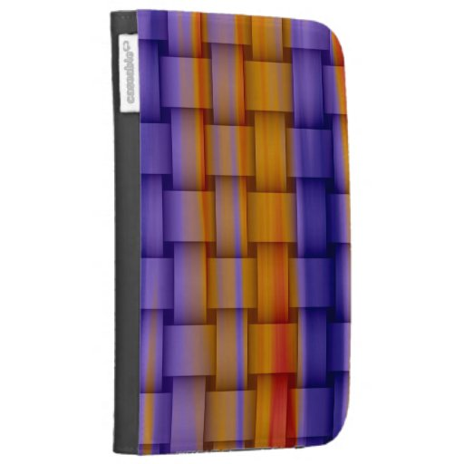 Painting colorful wicker art graphic design kindle folio cases