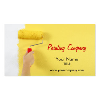painting company painter interior designer business cards