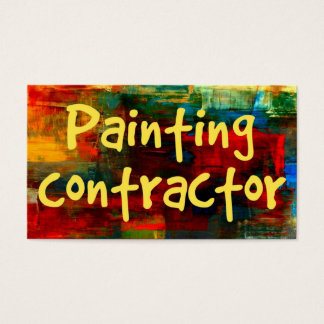 Painting Contractor in Paint Business Card