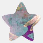 Painting Dragonflies Star Sticker