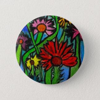 Painting Flowers Through Autistic Eyes 6 Cm Round Badge