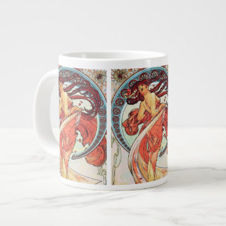 """Painting"" from The Arts Series by Alphonse Mucha Large Coffee Mug"