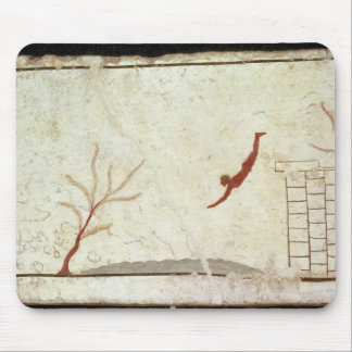 Painting from the Tomb of the Diver from the south Mouse Pad
