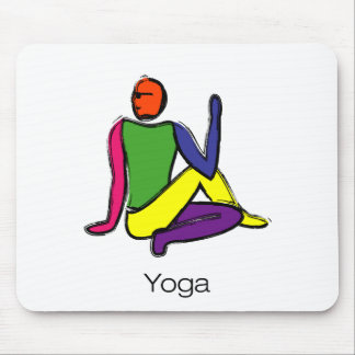Painting - Half Lord of the Fishes & yoga text. Mouse Pads