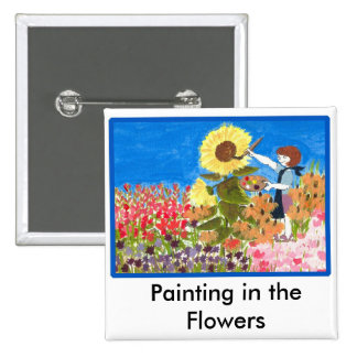 Painting in the Flowers Pins