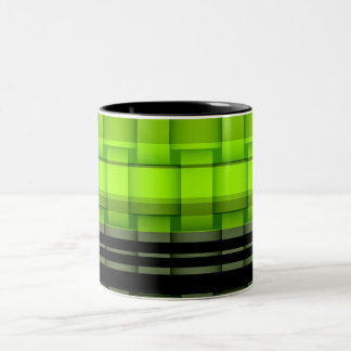 Painting lime green wicker art graphic design Two-Tone coffee mug