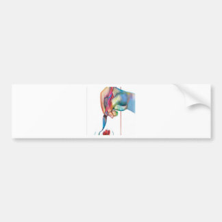 Painting meadow design bumper sticker