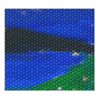 Painting mosaic tiles photo art