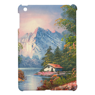 Painting Of A Cabin Along A Mountain River Case For The iPad Mini