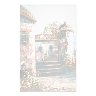 Painting Of A Fancy European Villa Stationery