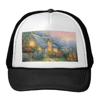 Painting Of A Rustic Fantasy Cottage Cap