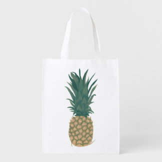 Painting of a whole pineapple grocery bags