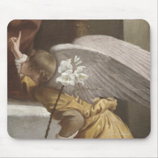 Painting of an angel pointing mousepads
