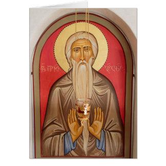 Painting Of An Elderly Saint Card