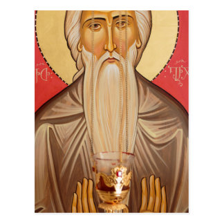 Painting Of An Elderly Saint Postcard