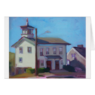 Painting of an Old Firehouse Card