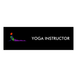 Painting of cobra yoga pose. pack of skinny business cards