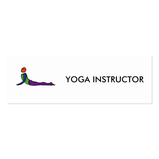 Painting of cobra yoga pose. business card template