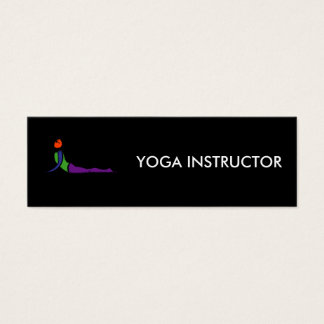 Painting of cobra yoga pose. mini business card