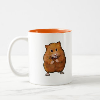 Painting of Cute Little Hamster: Art Two-Tone Coffee Mug