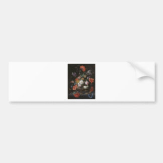 Painting of Flower Bumper Sticker