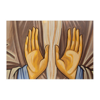 Painting Of Hands In A Church Acrylic Print