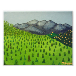 Painting of Mount Baldy by Julia Hanna Photo Art