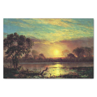 Painting of Owens Lake, California Tissue Paper